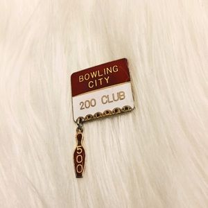 Other - Vintage Bowling City 🎳 200 Club Pin, 500 Pin